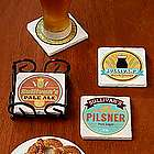 Personalized Craft Beer Label Coasters
