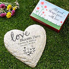 Personalized Love Blooms Here Garden Stone with Seeds