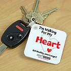 Personalized Heart Disease Awareness Keychain