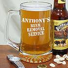 Engraved Beer Removal Service Glass Mug