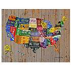 United States License Plate Map Art Print