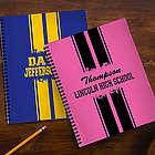 School Spirit Personalized Large Notebooks