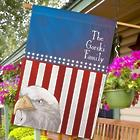 Personalized American Pride House Flag