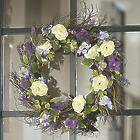 Rananculus Floral Yellow and Purple Wreath