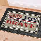 Personalized Land of the Free Door Mat