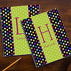 Polka Dots for Her Personalized Large Notebooks