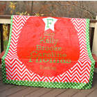 Family's Personalized Christmas Tree Print Fleece Throw Blanket