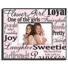 Personalized Flower Girl Polka Dots on Pink Picture Frame
