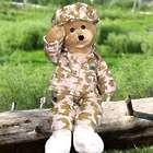 Singing American GI Hero Teddy Bear in Camo