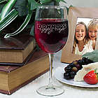 Engraved Sippy Cup Wine Glass