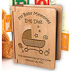 Personalized Baby Memories Wooden Photo Album