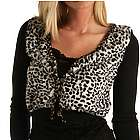 Faux Spotted Animal Fur Sweater Shrug
