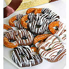 Triple Chocolate Dipped Pretzels
