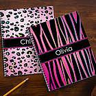Animal Print Personalized School Notebooks