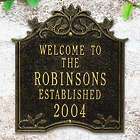 Personalized Hedra Aluminum Outdoor Welcome Plaque