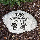 Engraved Spoiled Dog Garden Stone