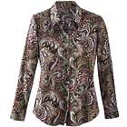 Ladies Long Sleeve Paisley Print Shirt
