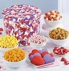 Letterpress Hearts Popcorn and Snacks 2 Gallon Gift Tin
