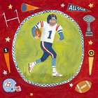 Boy's Football Star Wall Art