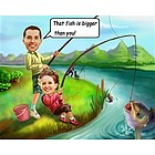Biggest Fish Caricature Print from Photos