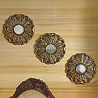 3-Piece Flower-in-Repose Mirror Set