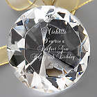 You're a Perfect Gem Personalized Crystal Diamond Paperweight