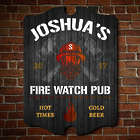 Personalized Hot Times Fire Watch Pub Sign