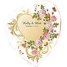 Flower Garden Heart Wedding Floor Decal