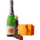 Veuve Clicquot Demi-Sec and Godiva Chocolates