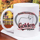 Personalized Proud Owner of a Golden Retriever Mug