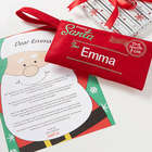 Personalized Letter From Santa Embroidered Envelope