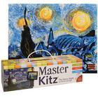 Master Kitz: The Starry Night Van Gogh Style Painting Kit