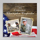 Custom Photo Soldier Tribute Canvas Art Print
