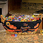 Personalized Halloween Basket Liner