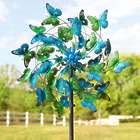 Blue and Green Butterflies Metal Wind Spinner
