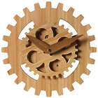 "Bamboo Gears 12"" Wall Clock"