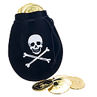 Pirate Drawstring Bag with Coins