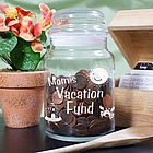 Personalized Vacation Fund Glass Jar