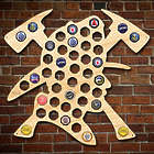 Brave Firefighter Beer Cap Map