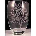 "Badash Crystal ""Tree of Life"" Vase"