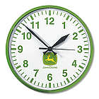 John Deere White and Green Shop Clock
