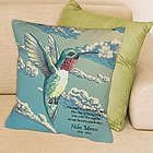 Personalized Hummingbird Memorial Throw Pillow