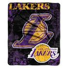 Los Angeles Lakers Logo Plush Throw Blanket