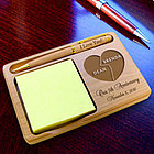 Personalized My Better Half Wooden Notepad & Pen Holder
