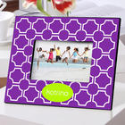 Personalized Purple Lattice Color Bright Frame