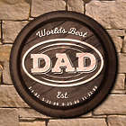 World's Best Dad Personalized Established Wall Sign