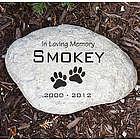 Engraved Pet Memorial Garden Stone