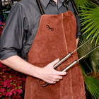 Personalized Branded Leather BBQ Grilling Apron