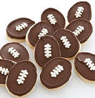 12 Football Cookies Bow Box