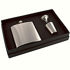 6 oz. Matte Stainless Steel Flask Gift Set
